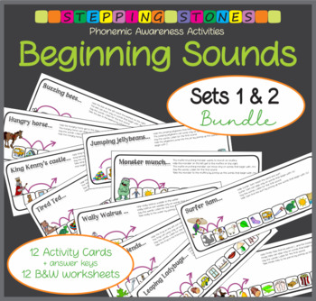 Phonemic Awareness - Beginning Sounds: Stepping Stones Activities Bundle