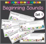 Phonemic Awareness - Beginning Sounds: Stepping Stones Activities (Set 1)
