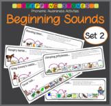 Phonemic Awareness - Beginning Sounds: Stepping Stones Activities (Set 2)
