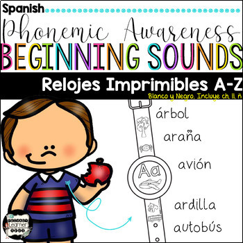 Phonemic Awareness Printable Watches {Spanish}