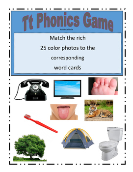Phonemic Awareness Beginning Tt Sound Game