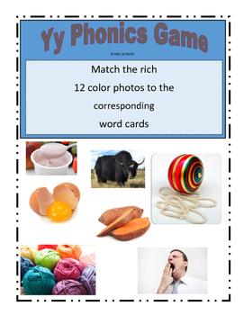 Phonemic Awareness Beginning Yy Sound Game