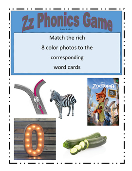 Phonemic Awareness Beginning Zz Sound Game