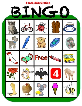 Phonemic Awareness Bingo: Sound Substitution