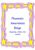 Phonemic Awareness Bingo