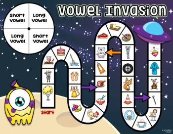Phonemic Awareness Board Game ~ Vowel Invasion