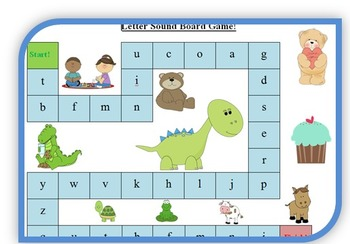 Phonemic Awareness Board Games! (Letter Names and Letter Sounds)