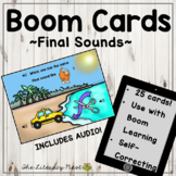 Phonemic Awareness Boom Cards: Final Sounds Multisensory Reading Practice