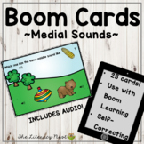 Phonemic Awareness Boom Cards: Medial Sounds Multisensory Reading Practice