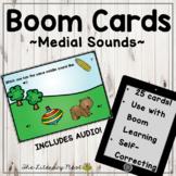 Phonemic Awareness Boom Cards: Medial Sounds Multisensory