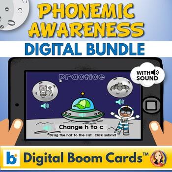 Phonemic Awareness Boom Digital Task Cards Distance Learning Bundle