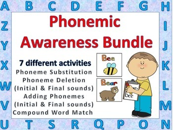 Phonemic Awareness Bundle Literacy Activities Whole or Small Group Practice