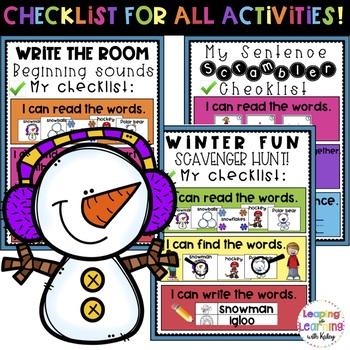NO PREP- Winter Theme Phonemic Awareness Activities