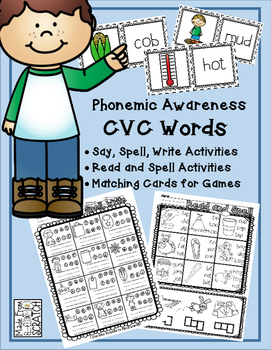 Phonemic Awareness-CVC Words-Say, Spell, Write