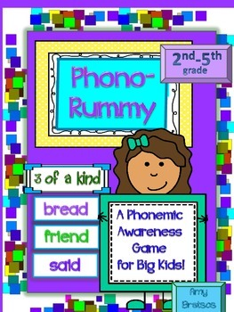 """Phonemic Awareness Card Game for """"Big Kids"""" - Grades 2 - 5"""