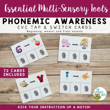 Phonemic Awareness Cards Multisensory Phonics Approach Orton-Gillingham