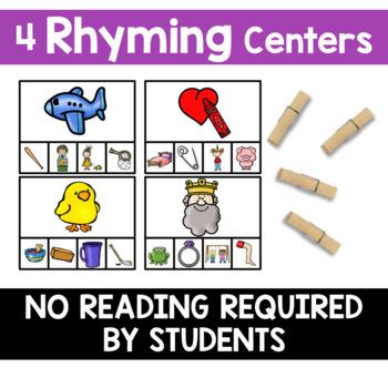 Phonemic Awareness Centers - Rhyme