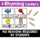 Phonemic Awareness Activities - Rhyme Centers
