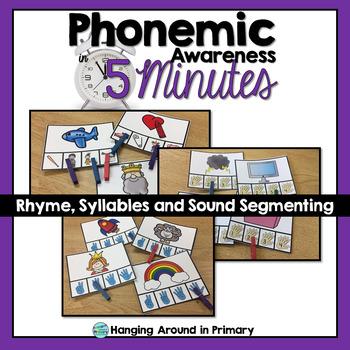 Phonemic Awareness Centers - Sound Segmenting