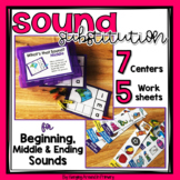 Phonemic Awareness Centers - Sound Substitution