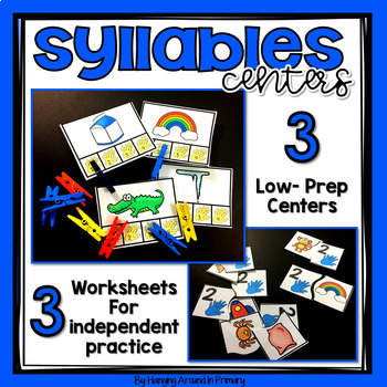 Phonemic Awareness Centers - Syllables