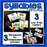 Phonemic Awareness Centers - Syllables