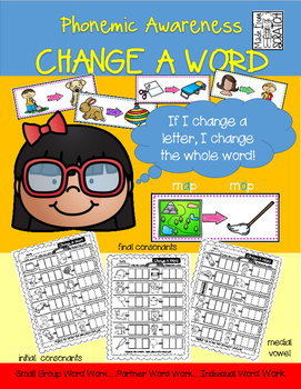 Phonemic Awareness-Change A Word for Initial, Medial and Final Sounds