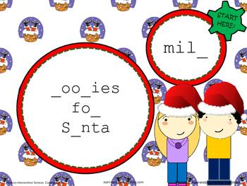 Phonemic Awareness Christmas Cookie Placemats