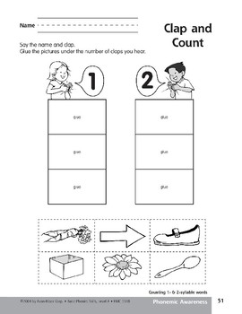 Phonemic Awareness: Counting 1- & 2-Syllable Words
