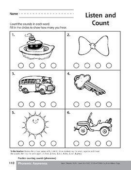 Phonemic Awareness: Counting Sounds