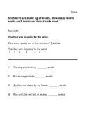 Phonemic Awareness Counting Words in Sentences