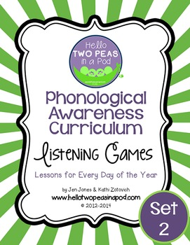 Phonemic Awareness Curriculum: Literature Based - One Year Bundle {Set 2}