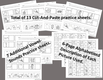 Phonemic Awareness: Cut-and-Paste Practice Sheets - No Prep!