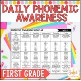 First Grade Phonemic Awareness Daily Warm Ups Bundle