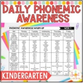 Phonemic Awareness Daily Warm-ups: Volume 1 (Kindergarten)