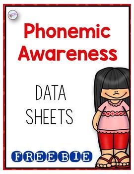 Phonemic Awareness Data Sheets