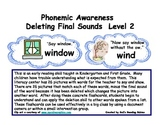 Phonemic Awareness Deleting Final Sounds Level 2