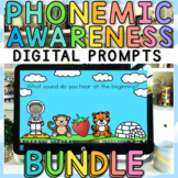 Phonemic Awareness Digital Prompts with Google Slides and Images