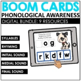 Phonological Awareness Speech Therapy Boom Cards™️ BUNDLE