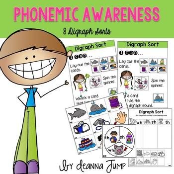 Phonemic Awareness Digraph Sorts
