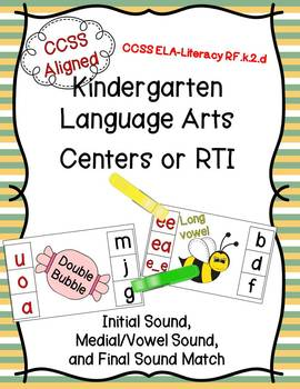 RTI or Centers * Initial, Medial / Vowel, Final Sounds * P