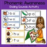 Phonemic Awareness  Ending Sounds Activity
