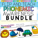 Phonemic Awareness Activities FLIP and TEACH BUNDLE