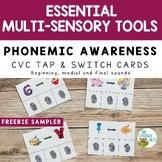 Phonemic Awareness Cards FREEBIE Multisensory Phonics Approach Orton-Gillingham