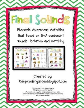 Phonemic Awareness - Final Consonant Sounds Matching and I