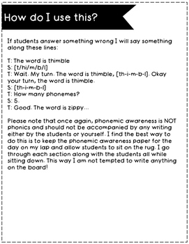 Phonemic Awareness Freebie