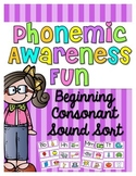 Phonemic Awareness Fun {Beginning Consonant Sounds}