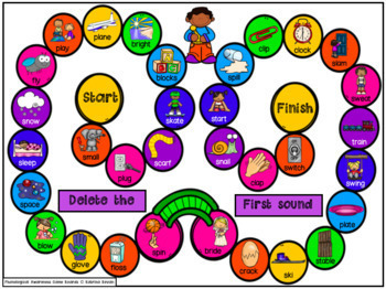 Phonemic Awareness Game Boards for speech and language therapy