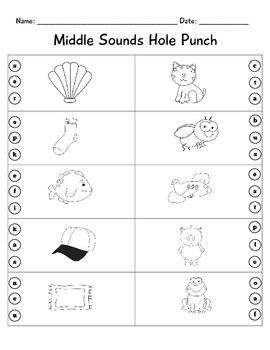 Phonemic Awareness Hole Punch Pack