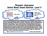 Phonemic Awareness Initial Blend Sound Deletion Level 3